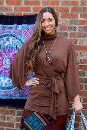 Bohemian Wanderer Kimono Sleeve Tunic