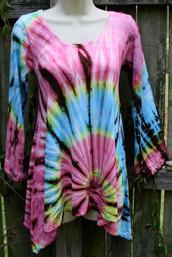 Mountain Sunset Fair Trade Tie Dye Top III