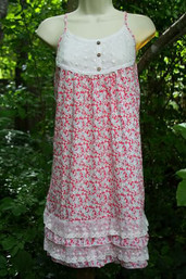 Summer Sweetness Floral & Lace Dress
