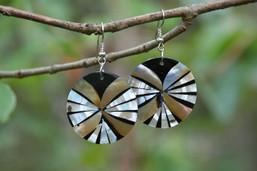 Sundial Shadows Shell Earrings