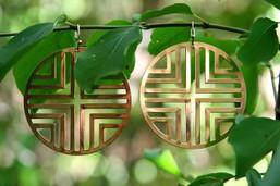 Boho Sunshine Gold Medallion Earrings
