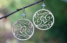 Dancing Wind Eco-Friendly Wooden Earrings