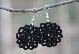 Night Sky Handmade Crocheted Earrings