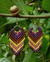Earth Harmony Fair Trade Macrame Earrings
