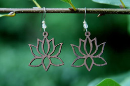 Lotus Peace Eco-Friendly Wooden Earrings