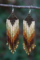 Tribal Feather Fair Trade Beaded Earrings