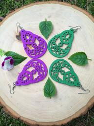 Water Hyacinth Wooden Earrings