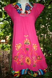 Mexican Summer Embroidered Dress (sizes 2 - 6 only)