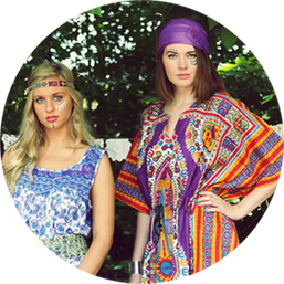Tribal Rhythms Dashiki Kaftan Dress