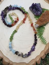 Rainbow Chakras Natural Gemstone Necklace