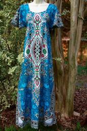 Vintage Hippie Dashiki Dress - (Multiple Colors)
