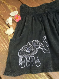 Elephant Love Flowy Fair Trade Shorts