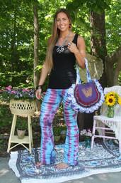 Roadtrip Sunset Fair Trade Tie Dye Stretchy Pants
