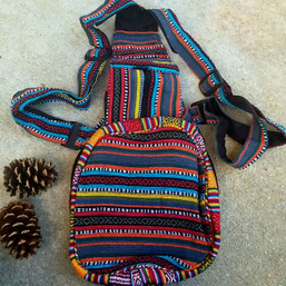 Travelin' Fair Trade Baja Guatemalan Hippie Backpack / Sling