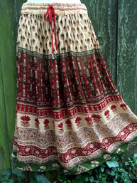 Gypsy Summer Short Broomstick Skirt