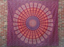 Fair Trade Mandala Moon Tapestry (Large)