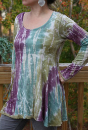 Frosty Forest Fair Trade Trapeze Top