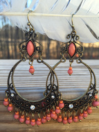 Bohemian Sunset Chandelier Earrings