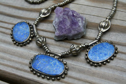 Rolling River Tribal Lapis Necklace