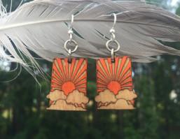 Sunshine Daydream Eco-Friendly Wooden Earrings