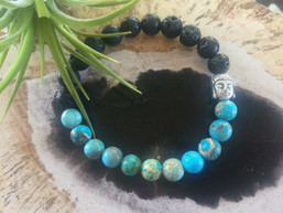 Mood Magic Lava Roch & Jasper Diffuser Bracelet - Buddha