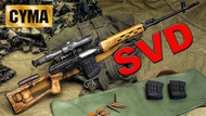 CYMA CM057 Russian SVD Dragunov AEG in Full Metal & Wood