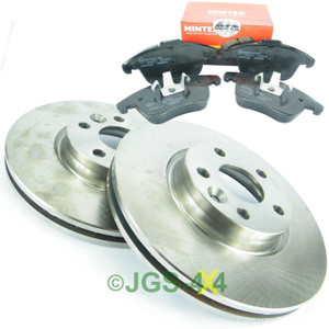Land Rover Freelander 2 Front Brake Discs + MINTEX Brake Pad Kit - LR007055