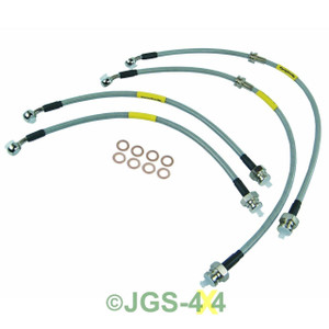 Land Rover Discovery 2 Extended Stainless Steel Brake Hoses TERRAFIRMA - TF610L