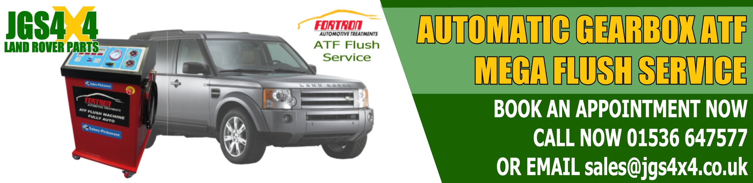 Automatic Gearbox ATF Mega Flush Service from JGS4X4
