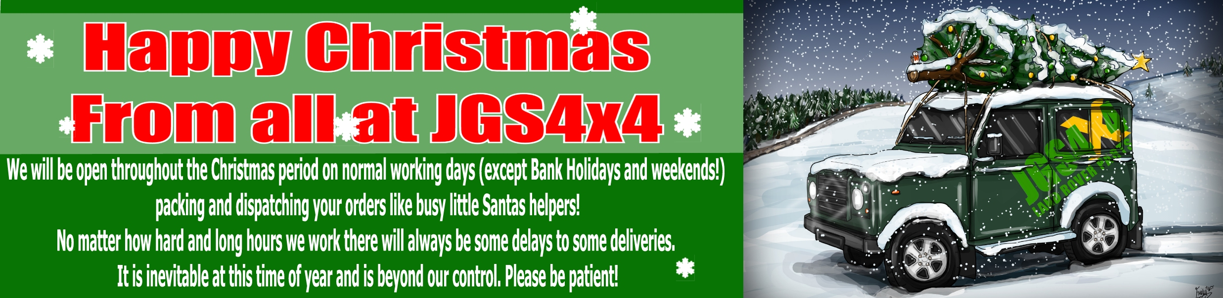 Happy Christmas from JGS4x4!