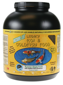 Microbe Lift Legacy Koi and Goldfish Food - Summer Staple 4 lb. 12 oz.