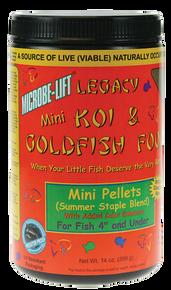 Microbe-Lift Legacy Koi and Goldfish Food - Mini Pellet 12 oz.