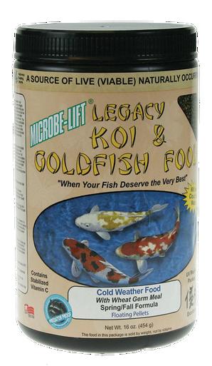 Microbe-Lift Legacy Koi and Goldfish Food - Cold Weather 12 oz.