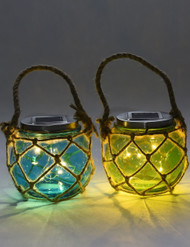 Glass Solar Jar ,2 Color Como
