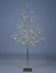 String Lighted Tree with 570 LED Lights, Five Inch, Golden Finish