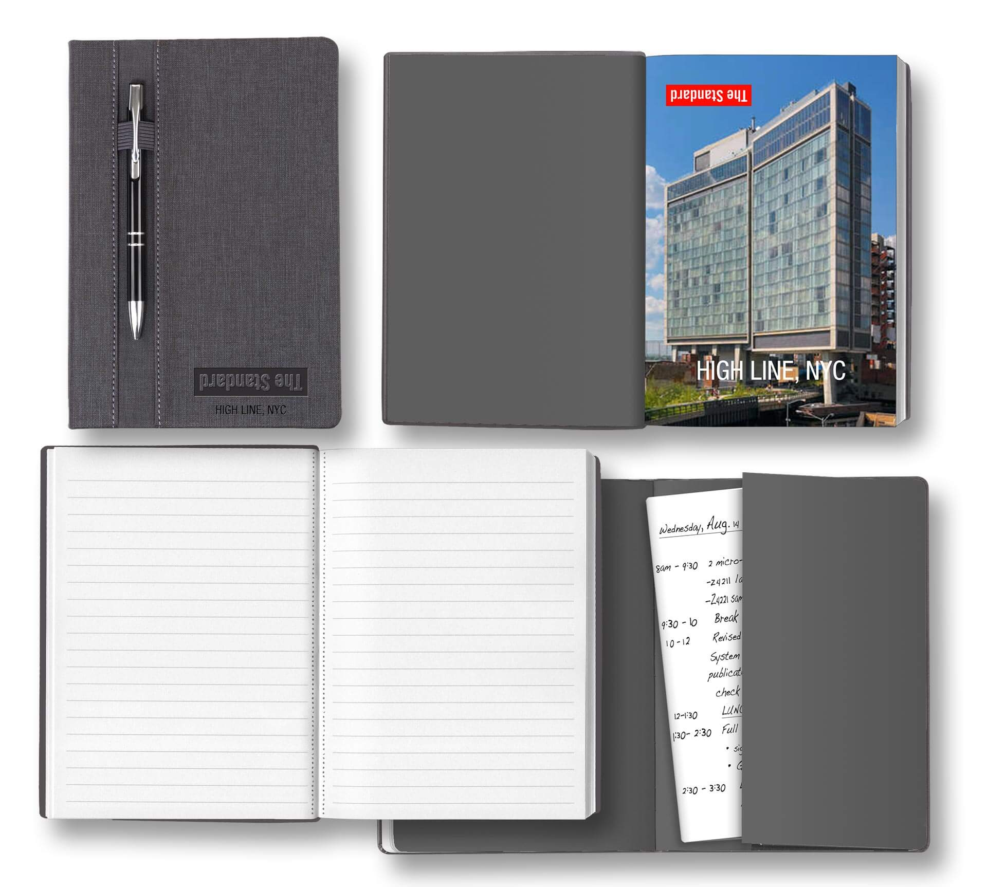 Linen-like Hardcover with Pen Loop on Front