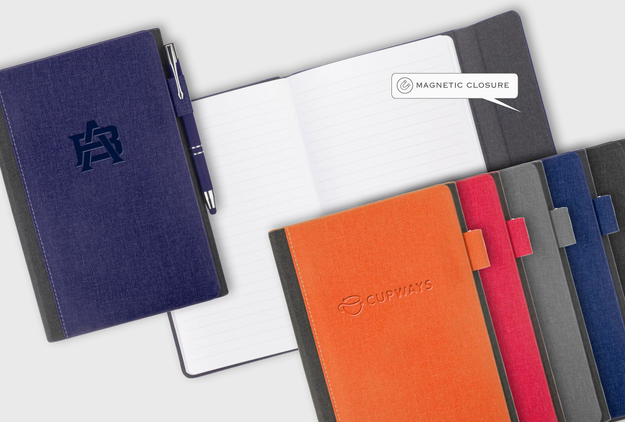 Two-Tone Hardcover with Magnetic Closure