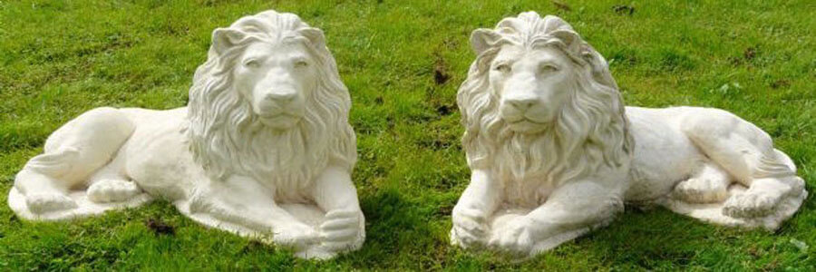 Ornamental Concrete Lions
