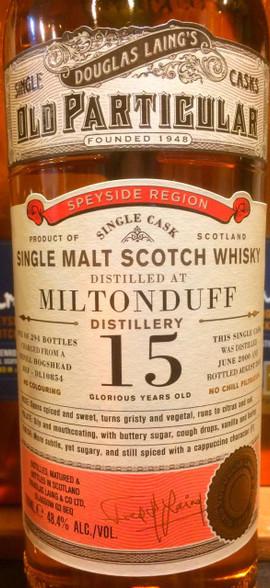 Miltonduff 15YO Single Cask
