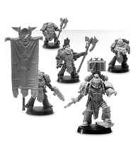 Magister Sevrin Loth Chief Librarian of the Red Scorpions with Honour Guard