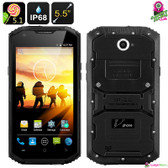 """Thorton"" V Phone X3 Rugged Smartphone (Onyx) - 5.5"" HD Display Quad-core 2GB"