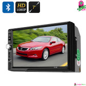 """Fusetrail"" Car DVD Player - 7"" TFT LCD Screen 2DIN 1080p Bluetooth MP5 player"