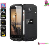 AGM A8 Rugged Android Phone - Android 7.0, Dual IMEI, 4G, Quad-core CPU