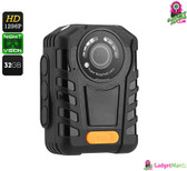 Police Body Cam - IP65 Waterproof, Night Vision, 1296p Resolution, Ti
