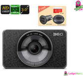 Dash Cam 360 - Full HD 1080P, 60FPS, 3 Inch Display