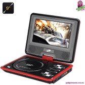 """""""Cybertale"""" Portable DVD Player (Red) - 9"""" TFT LED Display Region Free"""