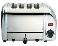 Dualit 47180 4-Scheiben Toaster in Edelstahl glänzend