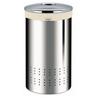 Brabantia 60 Litre Laundry Bin - Brilliant Steel