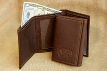 Buffalo Hide Three Fold Wallet
