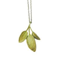 Sage necklace